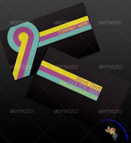 Vintage CMYK Business Card - GraphicRiver
