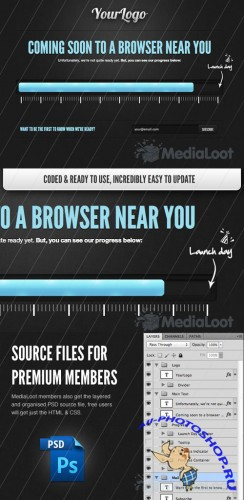 MediaLoot HTML5 Coming Soon Template