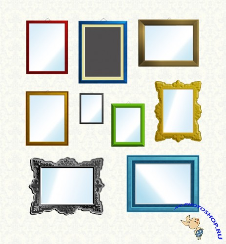 9 PSD Colourful Frames Set