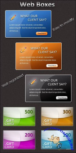 Web Boxes PSD Template
