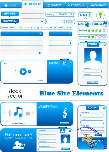 Vectors - Blue Site Elements