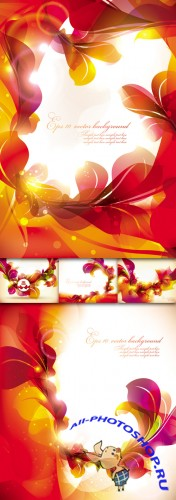 Backgrounds glow bright floral patterns