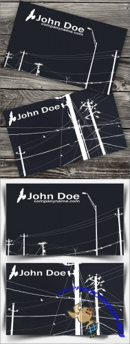 Business Card for Electrician - PSD Template