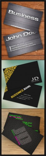 Business Cards - Webmaster, Designer, Wooden