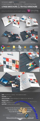 GraphicRiver - Dynamic 4 Page Brochure & Tri Fold