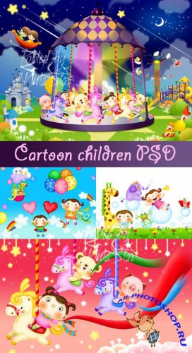 PSD Template - Cartoon children