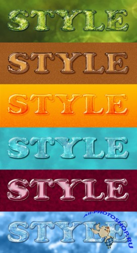 Exclusive Colourful Text Styles for Photoshop #1