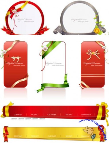 Ribbons For Your Project – Vector Pack