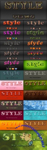 Collections PSD Text Styles by sonarpos