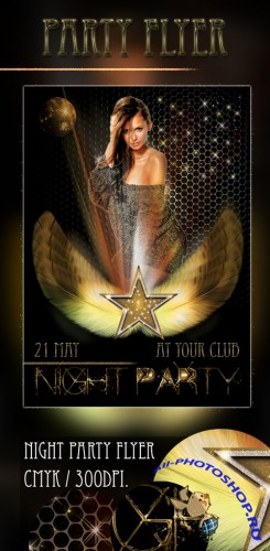 Night Party Flyer PSD Template