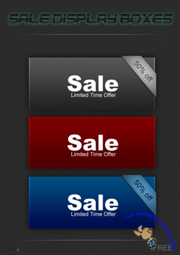 Sale Boxes PSD