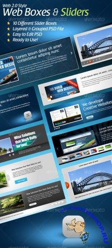 Web 2.0 Styled Slider Boxes - GraphicRiver