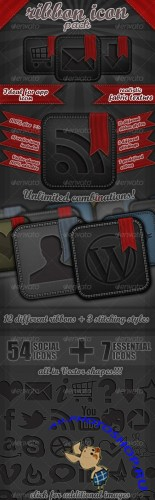 GraphicRiver - Ribbon Icon Set