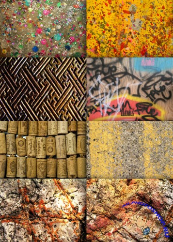 A collection of textures