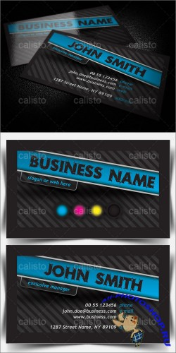 Dark Business Card Template - GraphicRiver