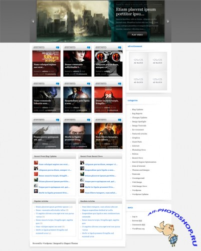 eVid v2.4 Update ElegantThemes Premium WordPress Theme
