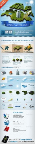 GraphicRiver - 3D Map Generator - Action