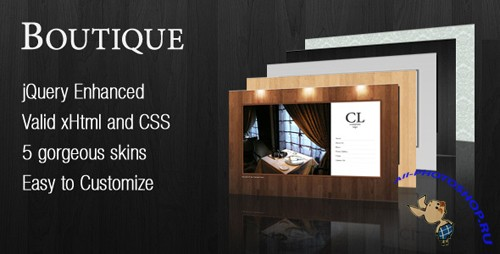 Boutique - ThemeForest Single Page Flash like Business Website - RETAIL
