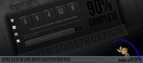 ThemeForest - Ultra Sleek 3D Look Under Construction Page
