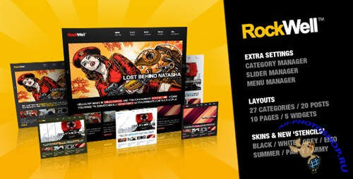 ThemeForest - Rockwell - Portfolio & Blog Theme v1.3 for Wordpress v3.x
