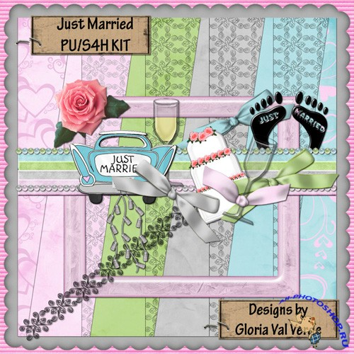 Scrap-set - JUST MARRIED