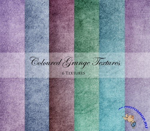Coloured Grunge Textures Pack