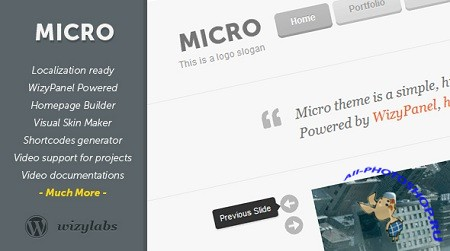 wizylabs - Micro - Highly Customizable WordPress Theme v1.0.1