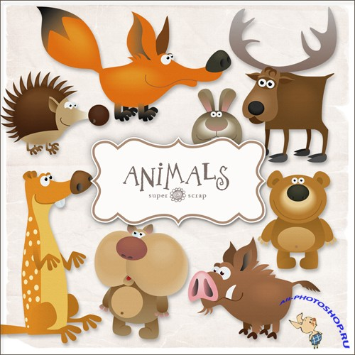 Scrap-kit - Animals Illustrations #1