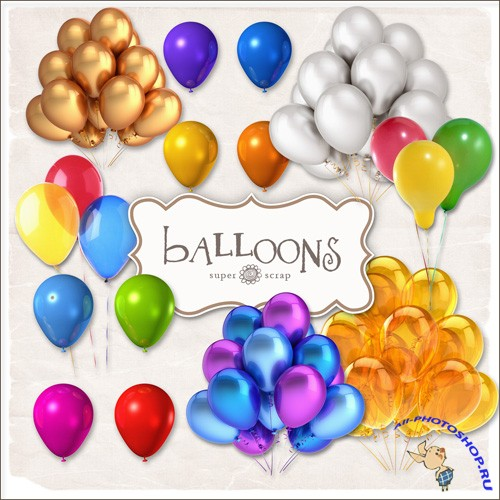 Scrap-kit - Color Balloons