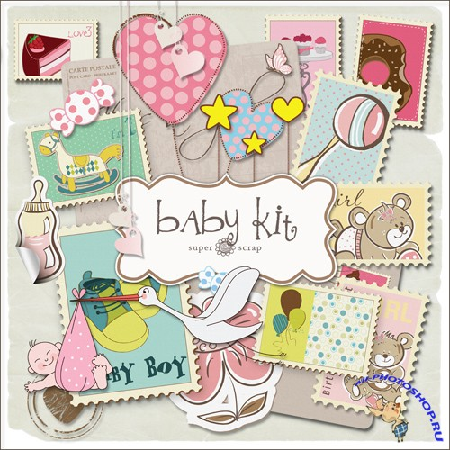 Scrap-kit - For Baby