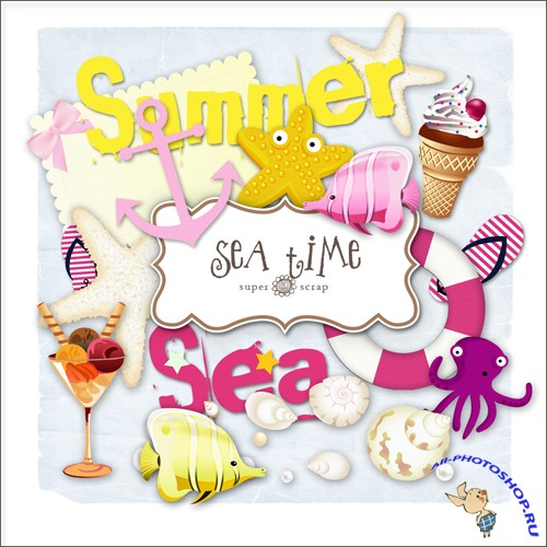 Scrap-kit - Sea Time