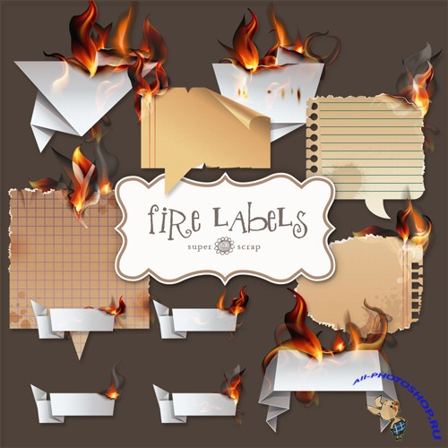 Scrap-kit - Fire Labels