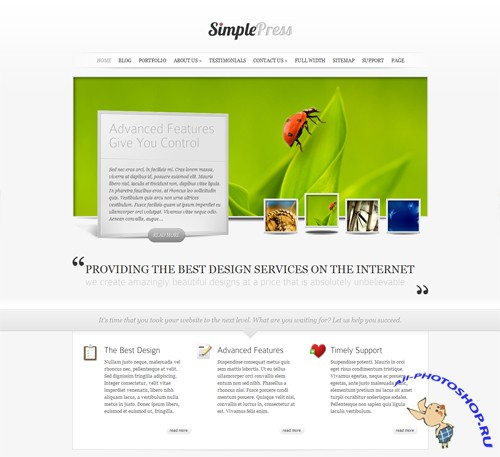 SimplePress v 3.0 ElegantThemes WordPress Theme