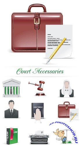 Court Accessories Vector | Аксессуары юстиции