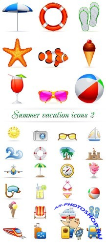Summer vacation icons 2 | ������ ������ ������ 2