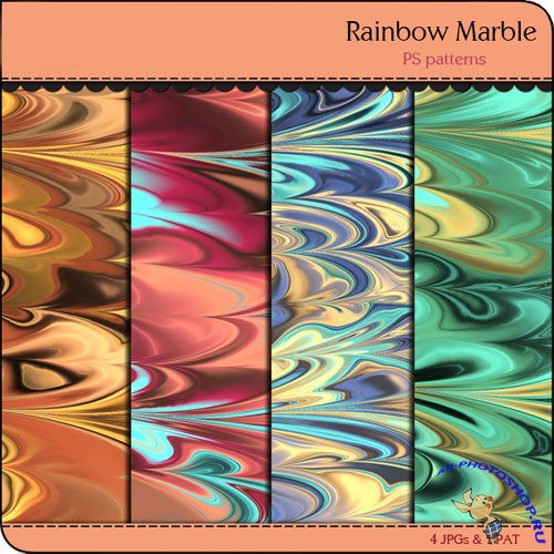 Rainbow Marble Patterns Pack