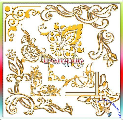 PSD ClipArt - Exclusive Gold Corners