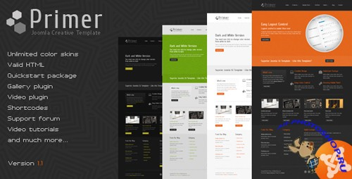 Themeforest Primer v1.1 – Creative Joomla Template