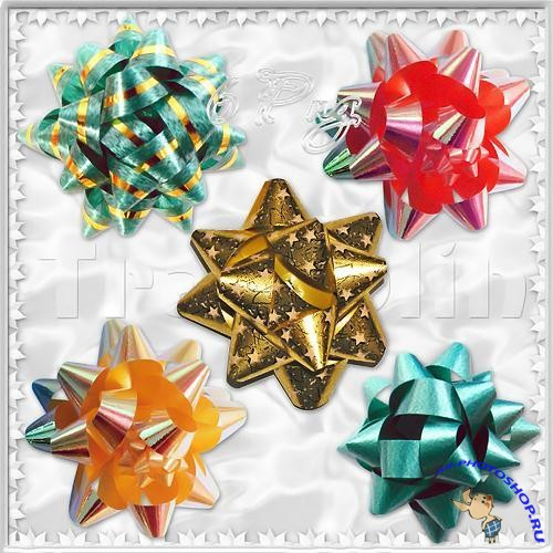 PSD Clipart - Holiday Bows