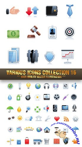 Stock Vector - Various Icons Collection 16 | ��������� ������ 16