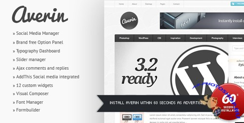 ThemeForest - Averin - Premium Magazine Theme v1.0 for Wordpress 3.x