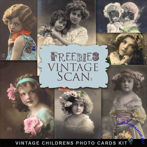 Scrap-kit - Vintage Childrens Photo Cards