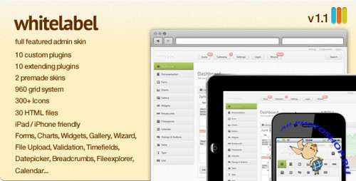 ThemeForest - White Label - a full featured Admin Skin v1.1.1