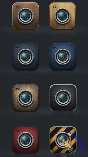 Cameras Icons Free PSD File | Иконки-объективы