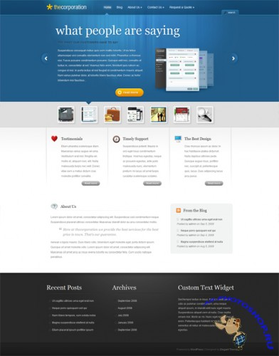 The Corporation v2.4 ElegantThemes WordPress Theme