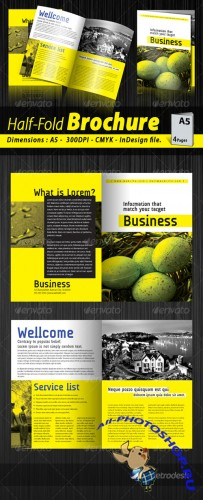 GraphicRiver - A5 Half-fold corporate brochure (4 pages)