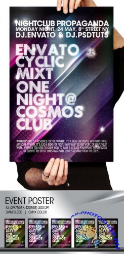 GraphicRiver - Cosmos Summer Party / Night club Poster & Flayer