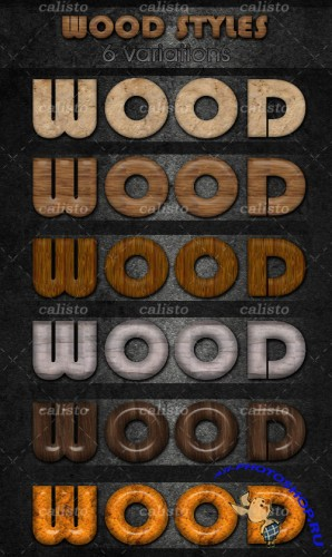 Wood Styles For Photoshop - GraphicRiver