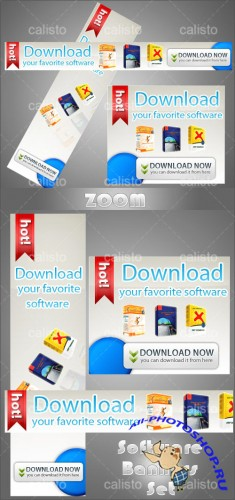 PSD Template - Software Banners Set