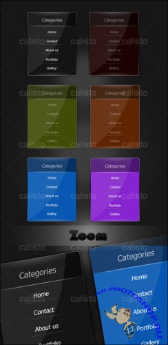 Menu - Web Boxes - PSD Template